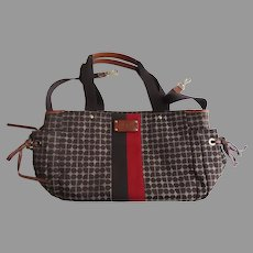 """Vintage Kate Spade Tote Diaper Leather and Canvas """"Stevie"""""""