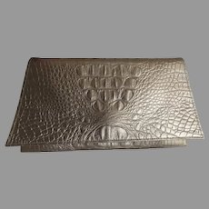 VINTAGE Leather Embossed Clutch Purse by Kemestry Gator