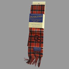 Pendleton Oregon State Wool Plaid Scarf New in Packaging Beaver State