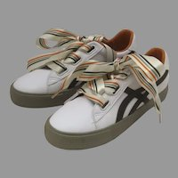 Women's Adorable Boutique Ribbon Sneakers Size 37 Beier Leather