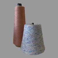 2 x Large Industrial Thread Spools Cones
