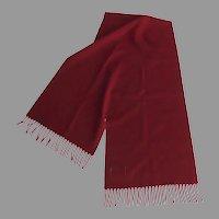 Pendleton Red Wool Plain Scarf