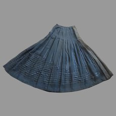 Amazing Slip Skirt c 1900's Pleated Ribbon Pattern