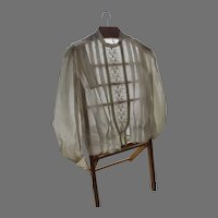 1900's Linen Embroidered Blouse Never Worn