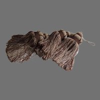 Set of Three Large Furniture Key Tassels with Beads