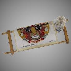 Vintage Dimensions 1977 Aztec Mask Needlepoint on Wood Frame