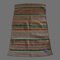 Vintage PENDLETON BEAVER STATE Lap or Baby Blanket Wool Cotton Blend Southwestern
