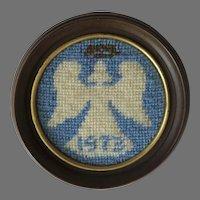 1973 Dated Hand Made Needlepoint Angel Halo