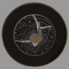 1990 Ondee after Erté  Fine China Germany Plate by Sevenarts Limited Edition