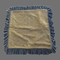 """Custom Made Square Pillow Shams Velvet Brocade 28"""" Blues Golds"""