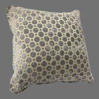 Vintage Kravet Cut Velvet Pillow Cushion Geometric