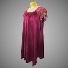 Vintage Eva Show XXL Lace Nylon Short Nightgown