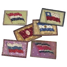6 x 1910's Cigar Flannels Felts Flags