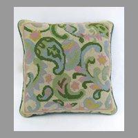Handmade Vintage needlepoint Pillow.