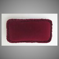 Pillow Made from Vintage Velvet