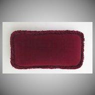 Pillow Made from Vintage Velvet