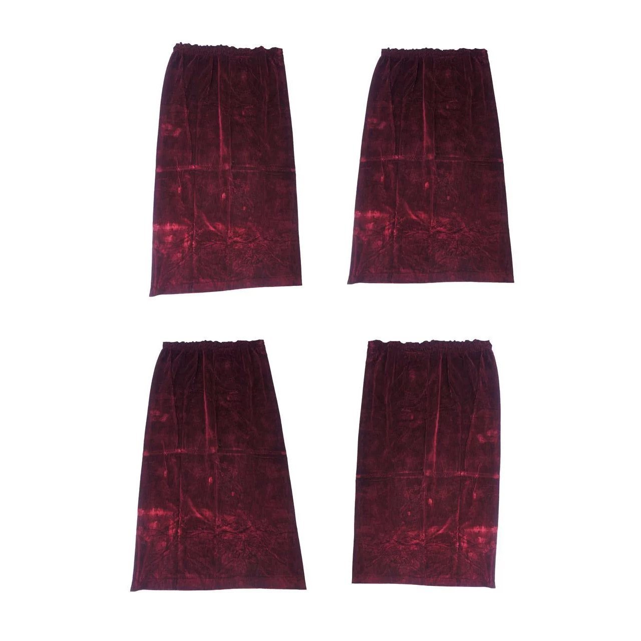 Set Of Four Vintage Burgundy Velvet Curtains Black Tulip Antiques Ltd Ruby Lane