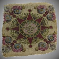 "Vintage Tapestry Fabric Square Fragment 17"" by 17"""