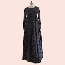 Vintage Lanvin Paris Long Gown & Fringed Shawl Empire Elegant