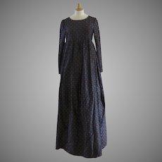 Vintage Lanvin Paris Long Gown & Fringed Shawl Empire Elegant