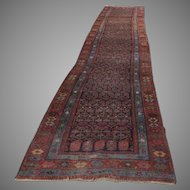 "Persian 1900's Long Runner Rug 199""(16' 7"") by 37"""
