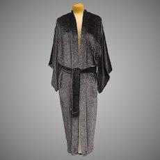 Vintage Natori Neiman Marcus Lined Kimono Style Robe with Sash Large