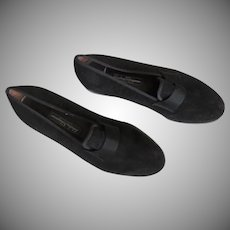 Men's Vintage Black Suede SALVATORE FERRAGAMO Made in  ITALY 8.5 D Designer Loafers Shoes