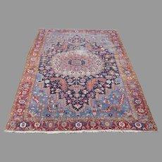 Large Persian Heriz Rug Circa 1890-1910
