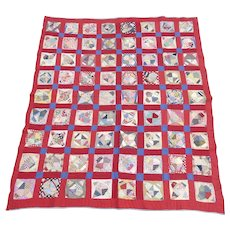 Vintage Handmade American Quilt Diamond Star Pattern