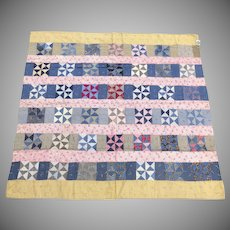 Vintage Handmade American String Quilt