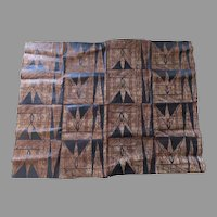 Early 20th Century Tapa Bark Cloth Geometric Large Polynesian
