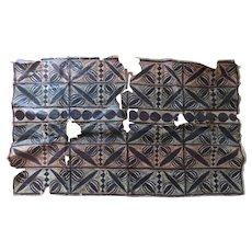 Vintage Older Polynesian Tapa Tapas Bark Cloth Fragment