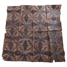 Vintage Older Polynesian Tapa Bark Cloth Geometric