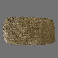 Vintage Mid Century Lauhala Woven Mat
