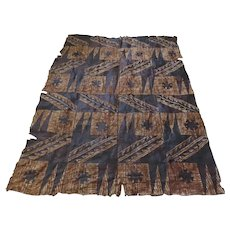 Large Vintage Tapa Tapas Bark Cloth Geometric