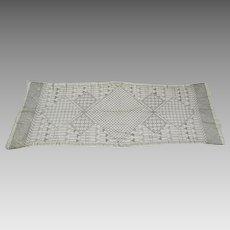 Vintage 1920's Assuit Asyut Egyptian Metallic Long Scarf Tulle Bi Telli
