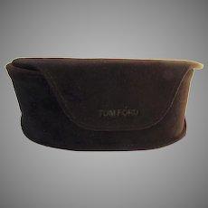 Vintage Rich Brown Velvet Tom Ford for Tom Ford Sunglasses Case