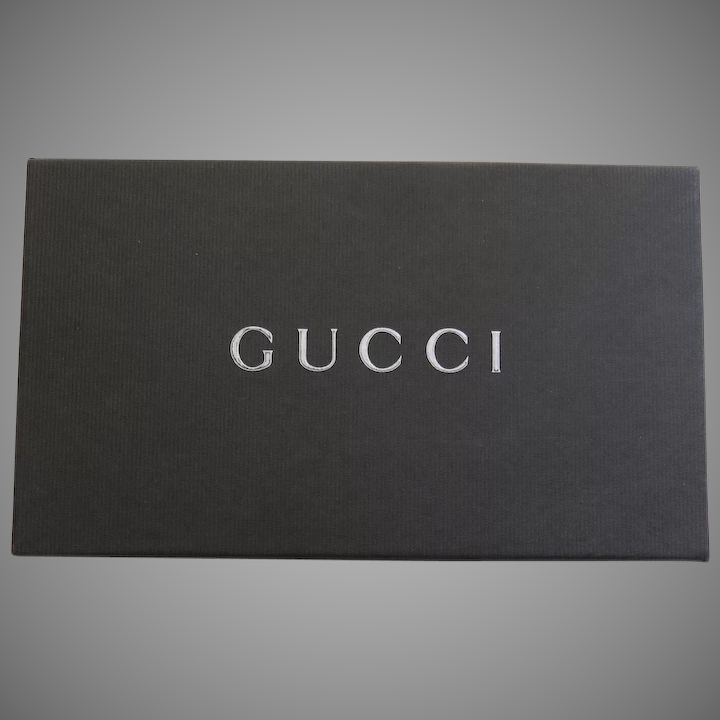 8092097a5 Vintage Gucci Wallet Credit Card Polished Leather Canvas Bamboo : Black  Tulip Antiques, Ltd. | Ruby Lane