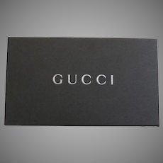 Vintage Gucci Wallet Credit Card Polished Leather Canvas Bamboo