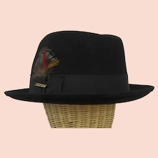 Vintage Stetson Fedora Hat and Original Box Saxon