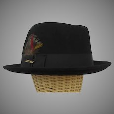 Vintage Stetson Fedora Hat and Original Box Saxon