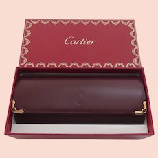 Vintage Cartier Eye Glass Glasses Hard Case with Original Box