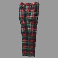 Vintage Mens Plaid Slacks Pants High Quality Men's Store VAN DRIVER of Greenwich & Stamford