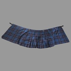 Vintage Elliot Tartan Men's 8 Yard Kilt Celtic Crafts Center Edinburgh Scotland