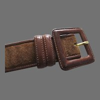 Vintage Ralph Lauren Belt Suede and Leather Made in Italy