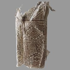 Older Vintage Tapa Bark Cloth Polonisian Top