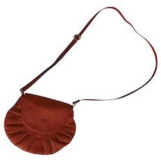 Vintage Leather Italy Italian Small Gathered Purse by Vera Pelle Cross Body