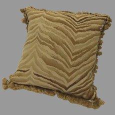 Vintage Gerry Nichol Aubusson Throw Pillow Cushion Animal Print
