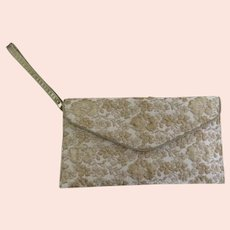Dee Keller Purse Bag Envelope Wristlet Clutch Tapestry Brocade Italy