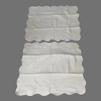Pair European Cotton Pillow Shams Wellesley Manor Matelasse Off White Portugal